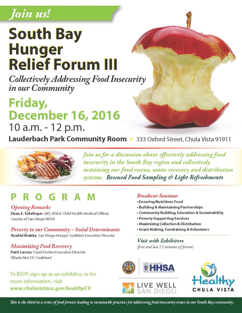 South Bay Hunger Relief Forum III