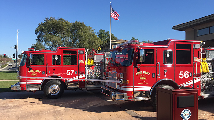 Measure P funds were used to purchase two new fire engines for Station 7