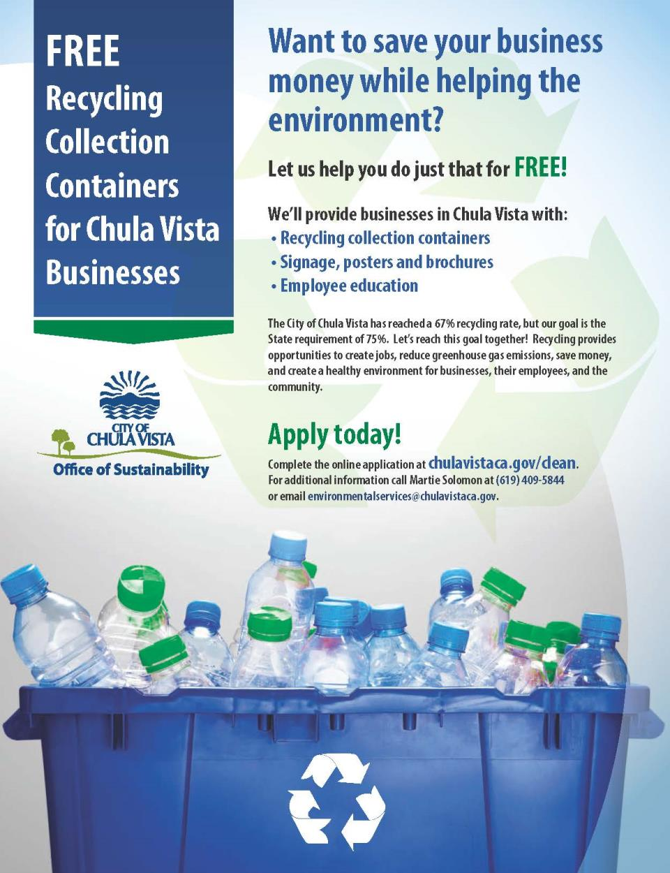 Clean city of chula vista free recycling containers reheart Images