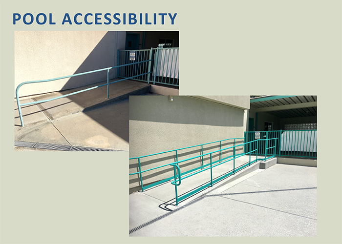 Easier access for our pool users!