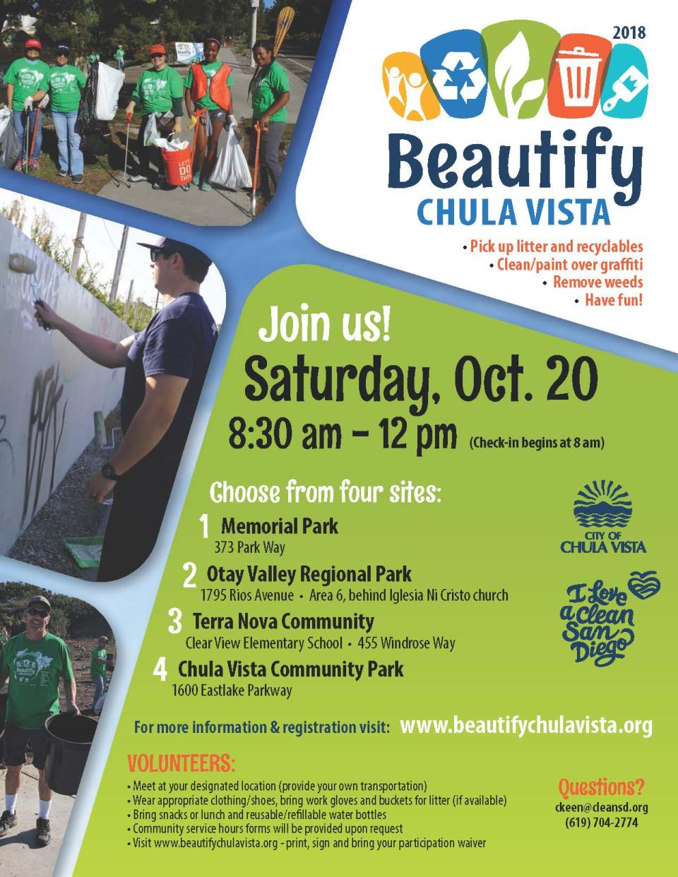 Clean city of chula vista beautify chula vista reheart Images