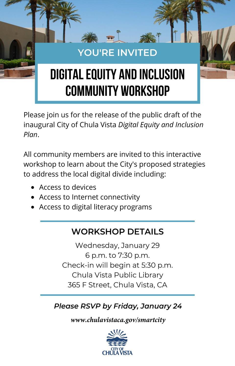DEIP Community Workshop Invitation with RSVP link