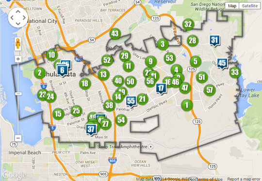 Parks and Recreation Map