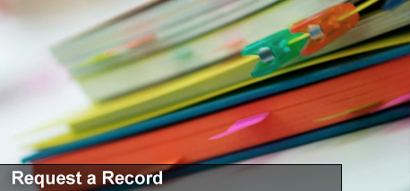 Request a Record Banner
