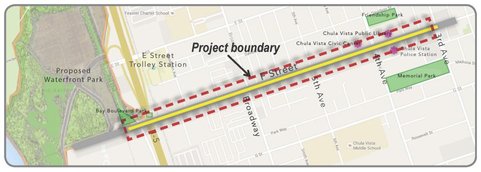 F Street Project Boundary