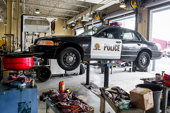 Police car maintenance