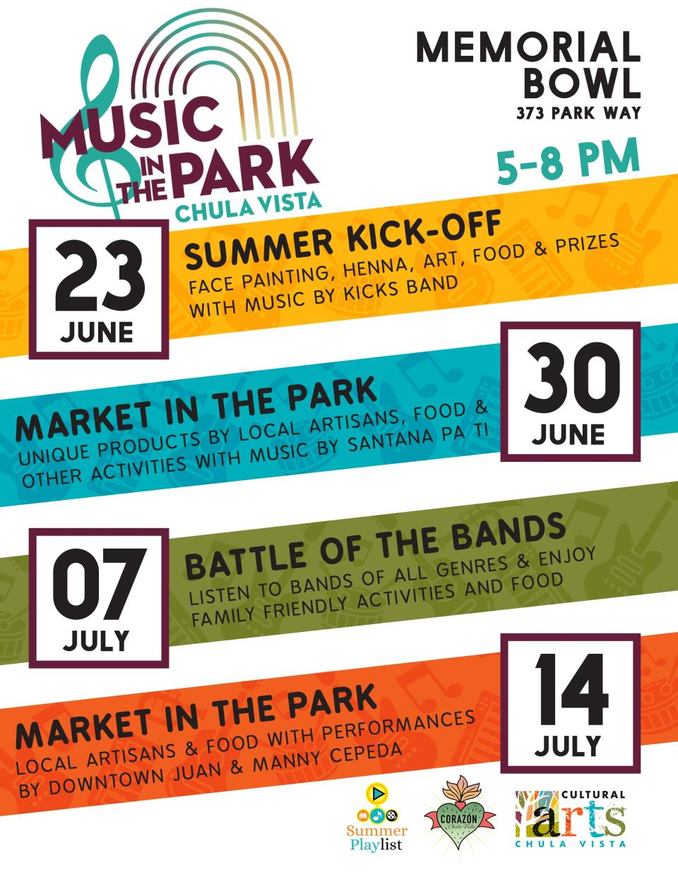 Music in the Park 2019 Summer Concert Series