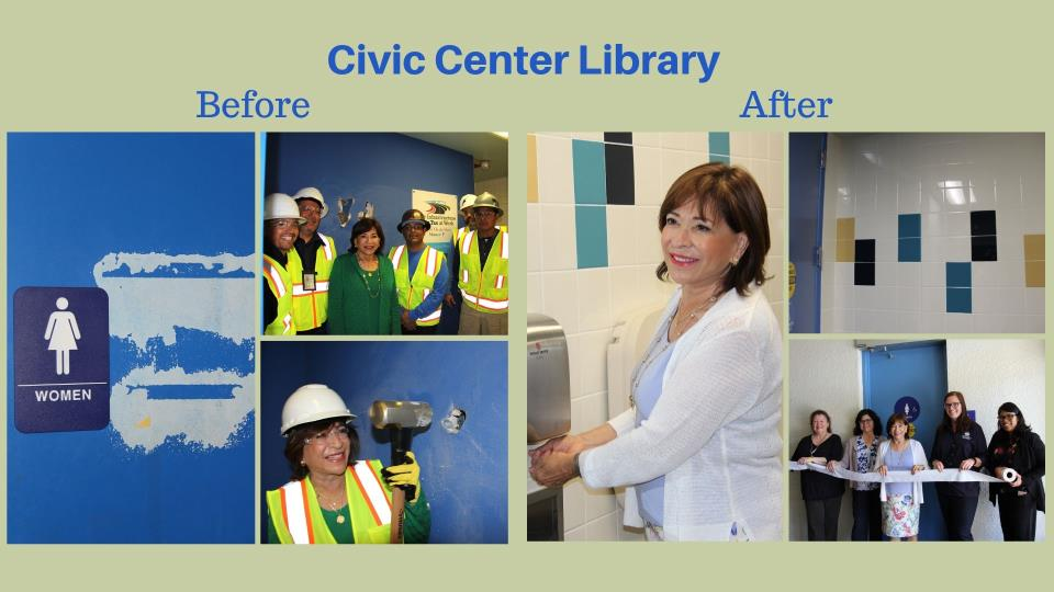 Upgrading facilities at our libraries and community centers!