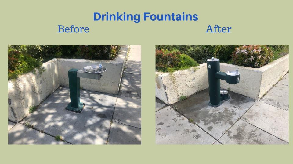 Before and After Photos of Drinking Fountains