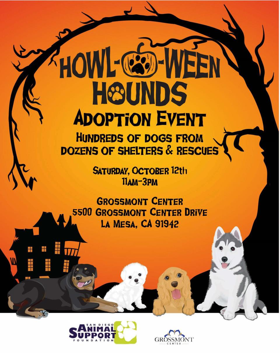 Howl-O-Ween Hounds Adoption Event