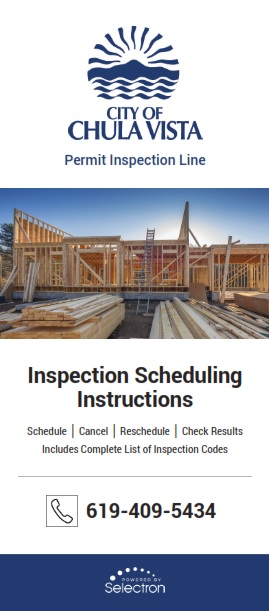 Cover of Inspection Scheduling Instructions Brochure