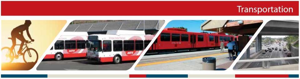 Transportation City Of Chula Vista