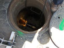 Sewer CCTV Camera in Pipe